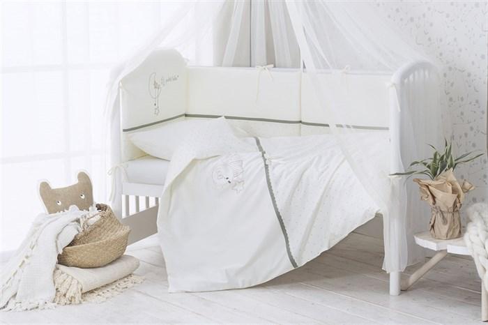 Комплект в кроватку Perina Le Petit Bebe 4 предмета Молочно-оливковый - фото 66777