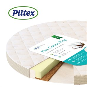 Матрац детский Plitex Flex Cotton Ring 640x640x90 мм