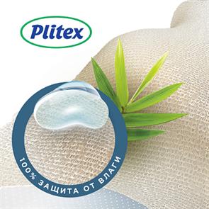 Наматрасник непромокаемый Plitex Bamboo Waterproof Lux Oval 1250х650 - 750х80 - 120 мм