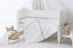 Комплект в кроватку Perina Le Petit Bebe 4 предмета Молочно-оливковый