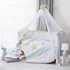 Комплект в кроватку Perina Джунгли 7 предметов Джунгли