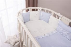 Комплект в кроватку Perina Неженка Oval 7 предметов Голубой